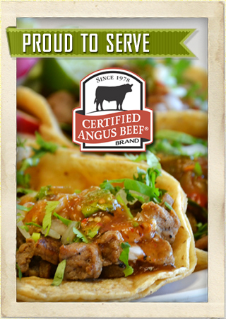 Proud to serve certified beef
